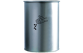Corbeille cylindrique 22L Ø290 - Inox