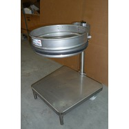 Support sac-poubelle mobile pour table de plonge inox