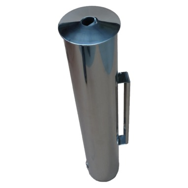 "Cendrier mural colonne inox 6 litres ""AULA"""