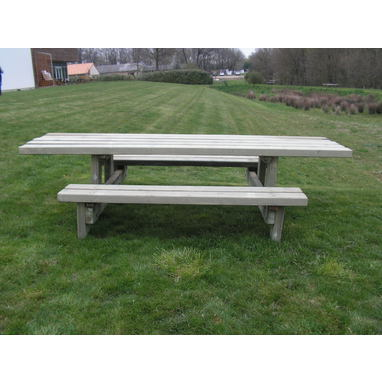 Table banc rustique PMR
