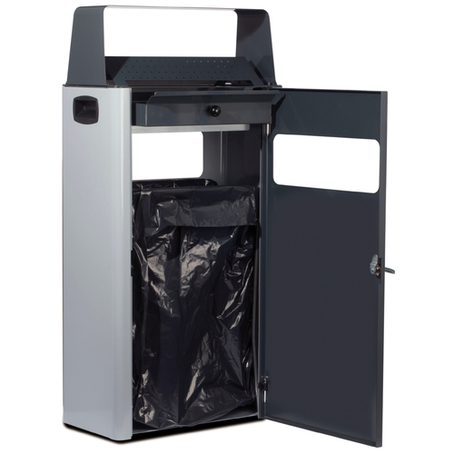 poubelle papier double face 30 litres poubelles et cendriers de 20l 40l. Black Bedroom Furniture Sets. Home Design Ideas